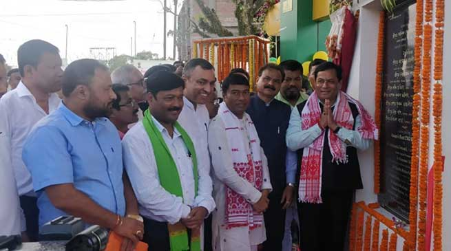 Assam: Sonowal inaugurates CNG station in Dibrugarh
