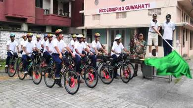 Photo of Assam: ADG NCC Flags Off Cycle Rally at Guwahati