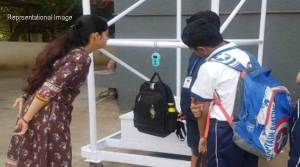 Assam: Random weight checking of school bags carried out in Hailakandi