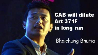 CAB will dilute Art 371F in long run: Bhaichung Bhutia