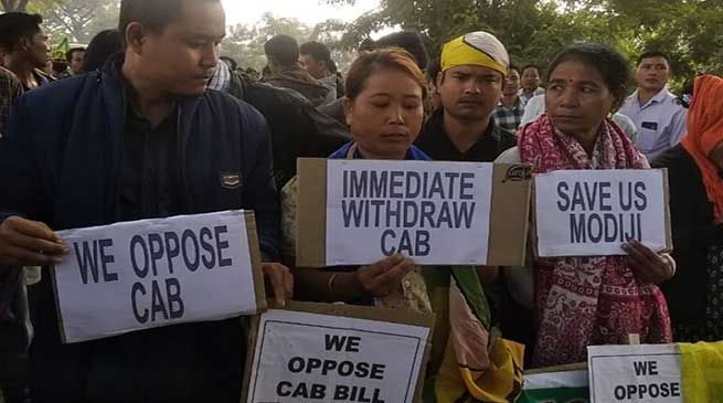 Tripura: protest continues against CAB, govt warns action