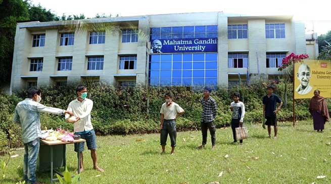 Coronavirus Crisis: MGU raises helping hand for the poor suffering due to lockdown in Meghalaya