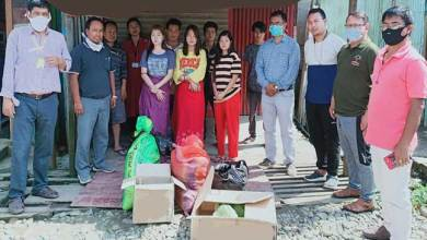 NERIST Alumni Association (NAA) Manipur Chapter Extends Assistance to Students from Arunachal Pradesh Stranded at Manipur