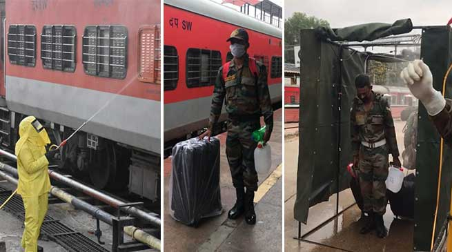 Coronavirus outbreak-  A special train with approximately 950 army personnel who have completed professional courses at Army Training Establishments at Bangalore,