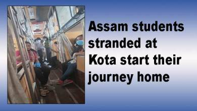 Photo of Assam students stranded at Kota start their journey home