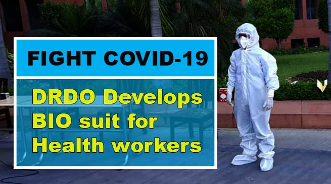 DRDO develops bio suit with seam sealing glue to keep health professionals fighting COVID-19 safe