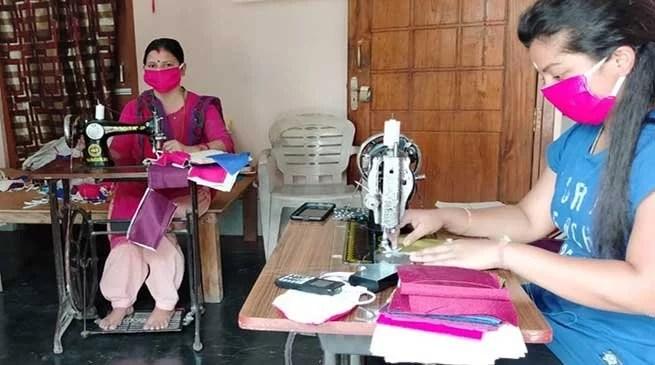 Coronavirus in Assam : Hailakandi SHG chips in to address shortage of masks