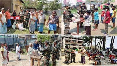 Assam: India Army provides Ration to needy people during lockdown