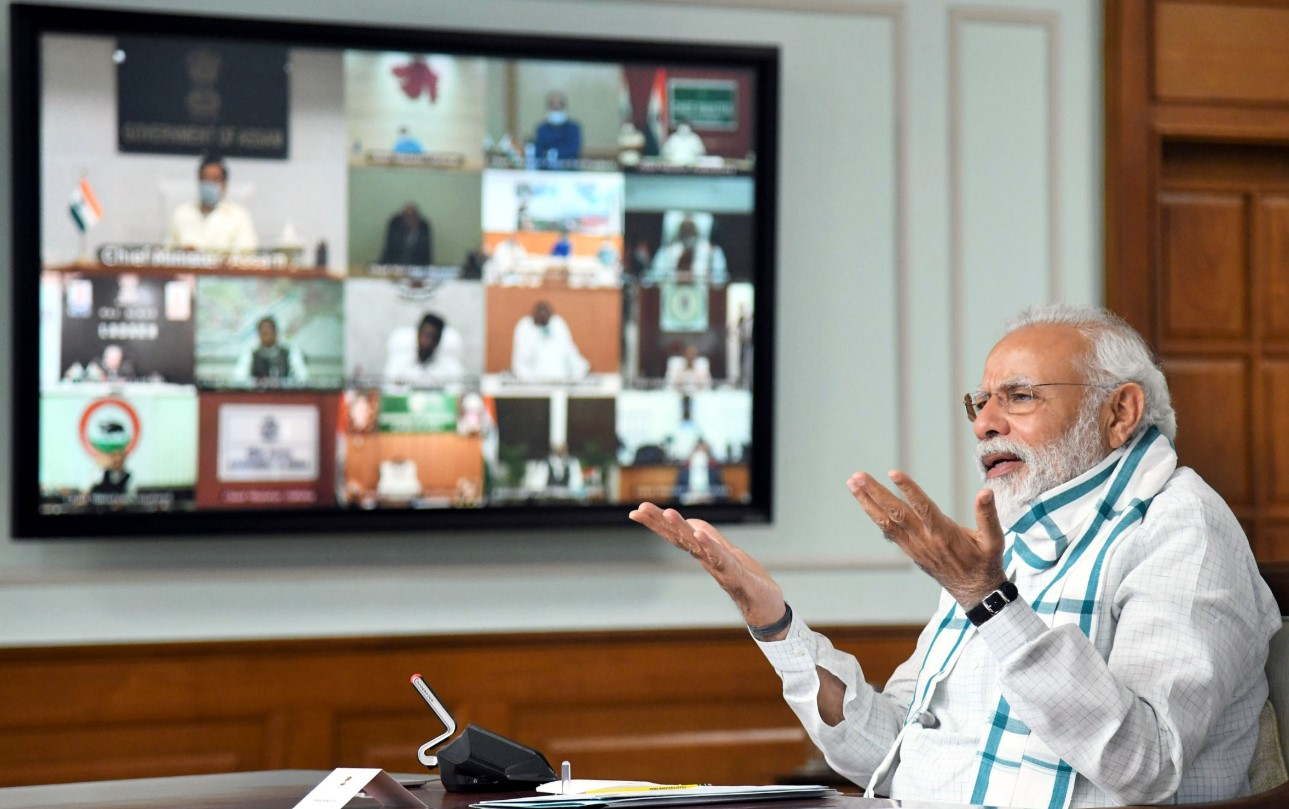 Prime Minister Narendra Modi interacts with CMs to plan ahead for tackling COVID-19