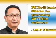 PM Modi lauds Sikkim for preventing COVID-19 outbreak, says CM