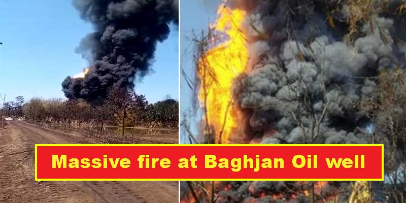 Assam: Massive fire Breaks out at Baghjan Oil well