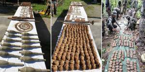 Assam: Huge arms and ammunitions recovered from Chirang