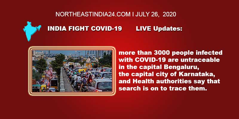 Coronavirus: India Fight Covid-19, LIVE Updates- more than 3000 people infected with COVID-19 are untraceable in the Bengaluru