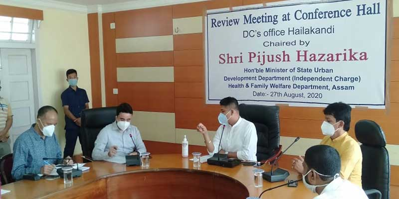 Assam: MoS Health & FW reviews COVID-19 situation in Hailakandi