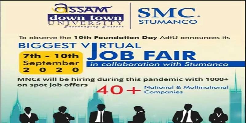 Assam down town University to be organize Virtual Job Fair Week 2020