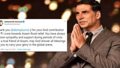 Assam CM thanks Akshay Kumar for Donating 1 Cr towards flood relief