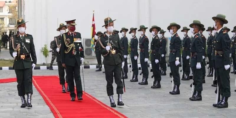 Indian Army Chief General MM Naravane Meets COAS of Nepali Army