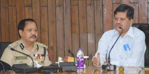 Assam:  CS, DGP review law and order situation with DCs, SPs, senior officials in Silchar