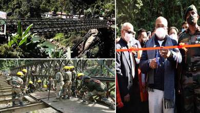 Manipur: Army constructs bridge over Irang river,  restores connectivity on NH-37