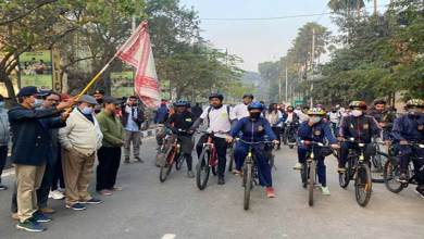 Assam: NCC cadets participate in environmental Bike hike
