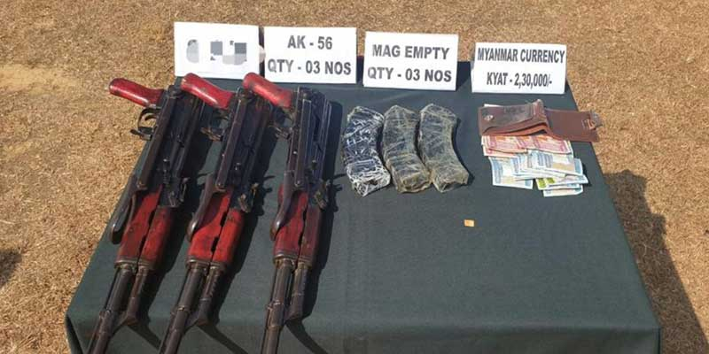 Mizoram:  Security forces recovered three AK-56 series Rifles from jungles of Zote