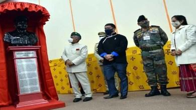 Arunachal Pradesh Governor lays foundation stone for Major Bob Khathing Memorial