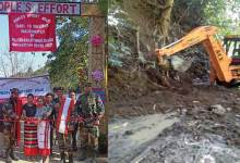 Manipur-Remote road constructed by the people, for the people in Tamenglong