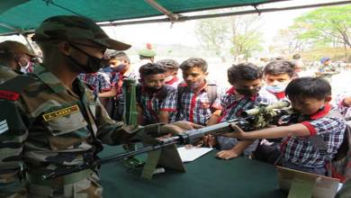 Swarnim Vijay Varsh: Army organized weapon display at Masimpur