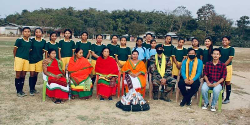 Nagaland-Security forces encourage girls football team, provide infrastructure in Dimapur