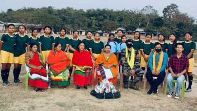 Nagaland- Security forces encourage girls football team, provide infrastructure in Dimapur