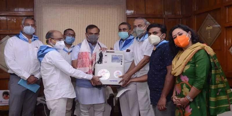 Sri Sathya Sai Seva Organisation donates oxygen concentrators to Government of Assam