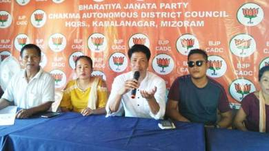 Mizoram: BJP Yuva Morcha lambasted the MNF EC of CADC over the ongoing political crisis in the council