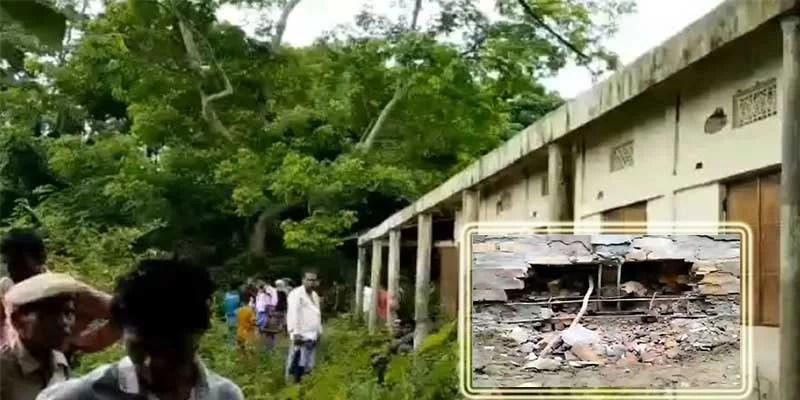 Bomb blast damages school in Assam's Hailakandi district near Mizoram border