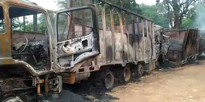 Assam: Five killed in Dima Hasao After Rebel Group Sets Trucks On Fire