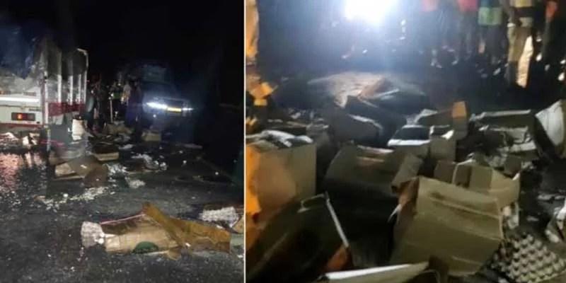 Assam: Mizoram bound truck reportedly vandalised by locals in Cachar