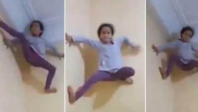 Spider Girl: 5-year-old girl climbs up a wall like Spiderman, Watch Viral Video