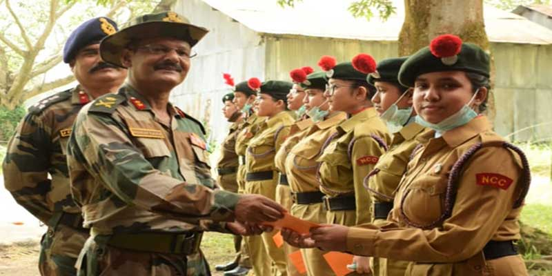 60 Assam Girls Battalion NCC Guwahati visited by ADG NCC NER