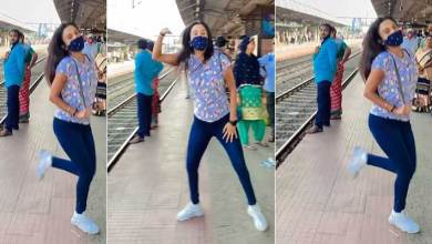 Viral Video: Girl dances to a Hindi song on railway platform gets over 25 million views
