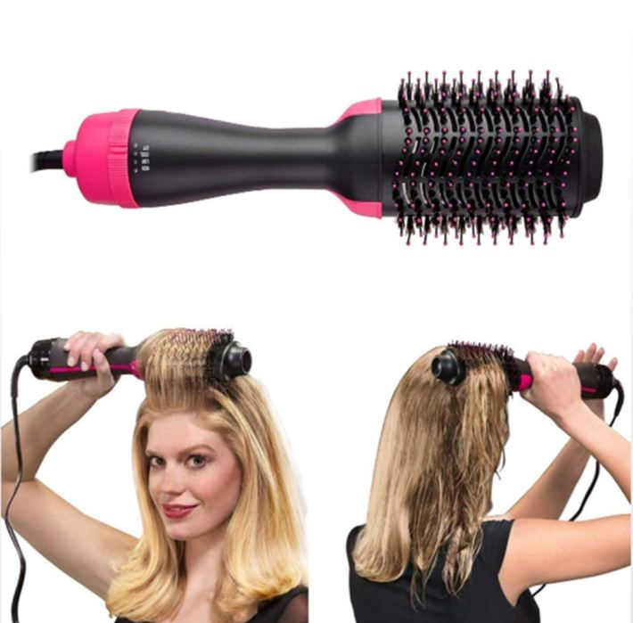 mm one step hair dryer,negative ion generator hair straightener curler  styler brush salon hot air paddle styling for all hair types