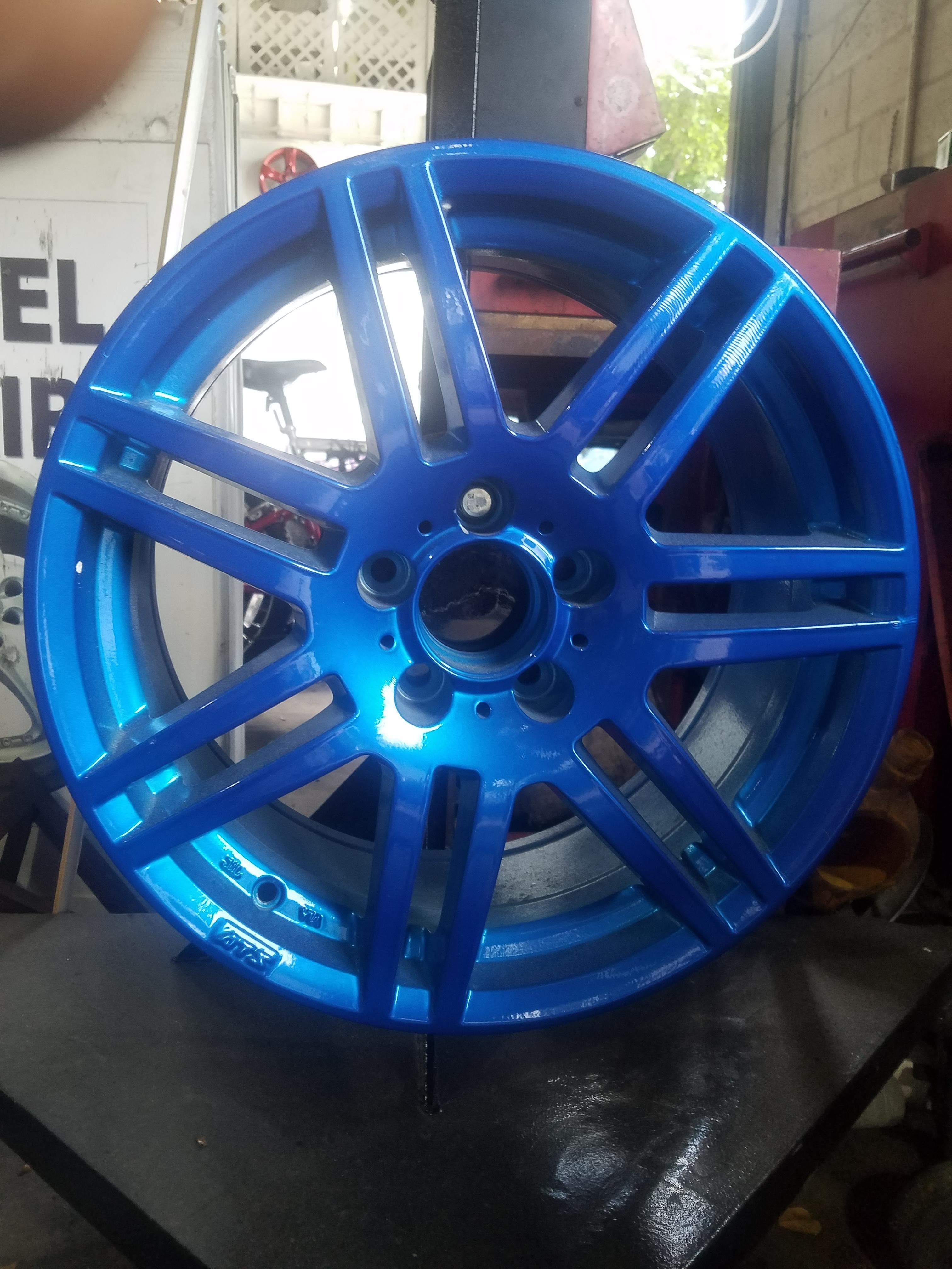 Prismatic Color Blue Alloy Wheels