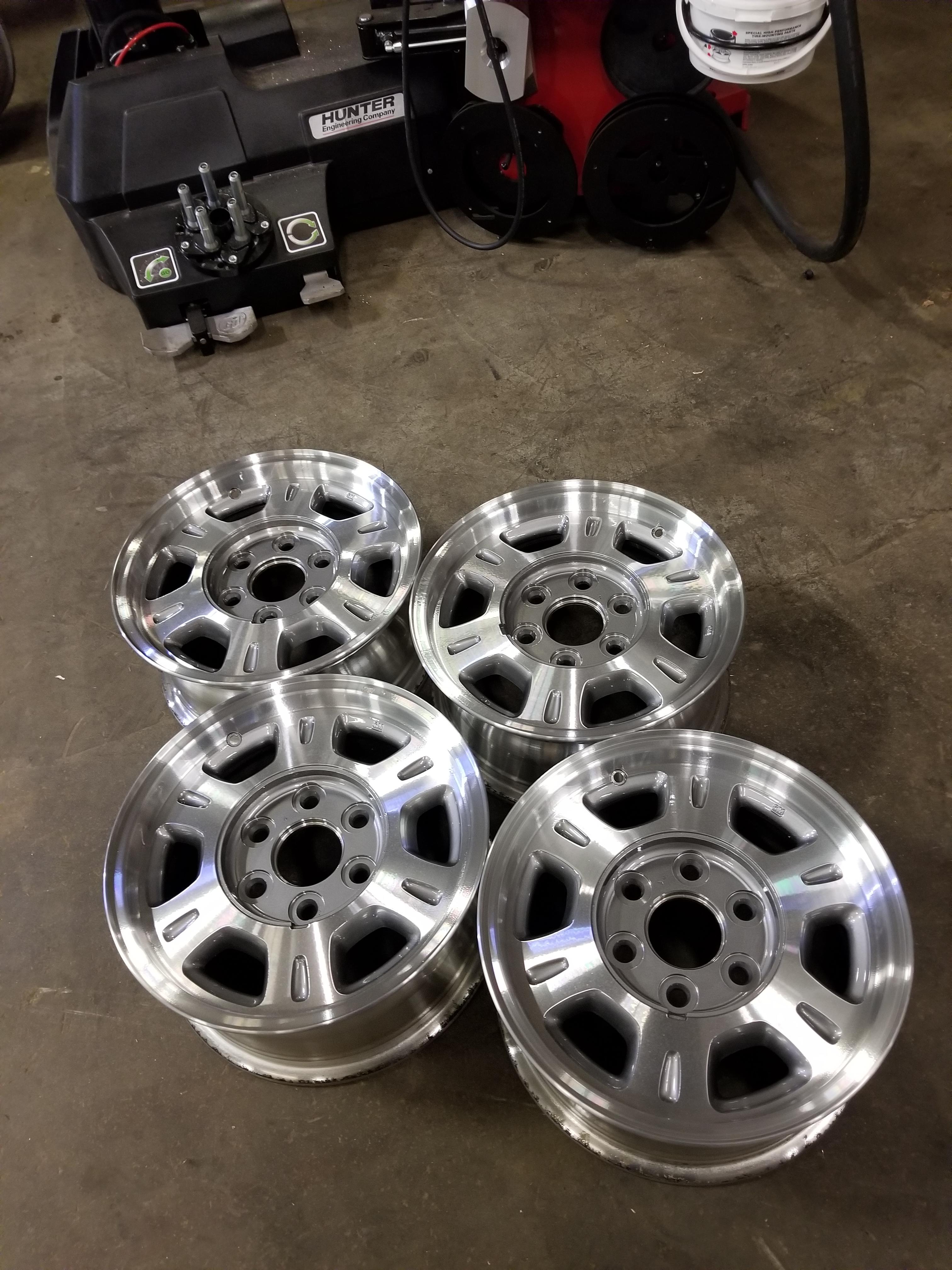 Silver Alloy Rims Refurbished