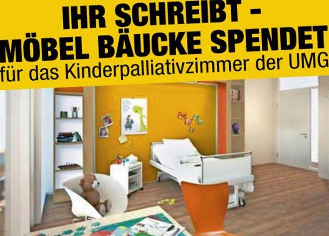 m bel b ucke spendet f r schwerkranke kinder und alle machen mit northeim jetzt. Black Bedroom Furniture Sets. Home Design Ideas