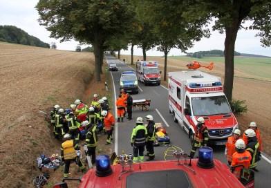 Bei Echte: Zwei Schwerverletzte nach Zusammenstoß auf der Bundesstraße 248
