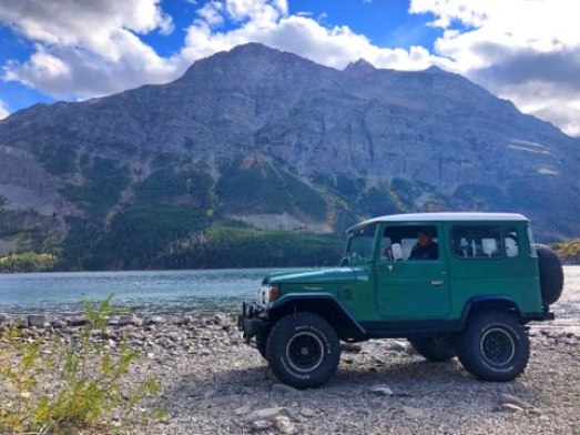 toyota landcruiser st.mary lake glacier national park