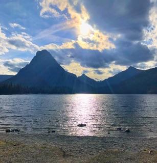 upper two medicine lake glacier national park