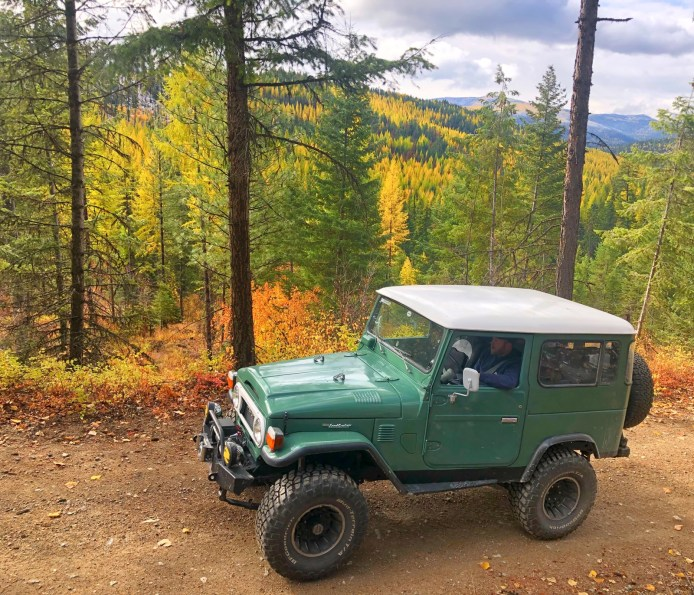 1977 Toyota Landcruiser making it's way to Meadow Peak Lookout in NW Montana