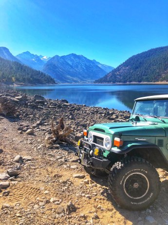 Front End Toyota Landcruiser at Lake Como, Montana