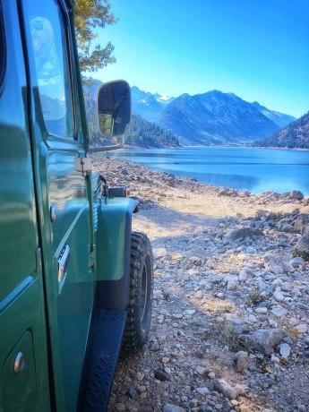 Peaks at Lake Como, Montana from Toyota Landcruiser