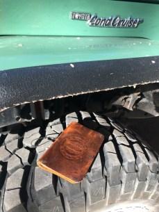 Travel Log on tire