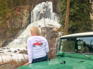 Wicked Landcruiser at waterfall